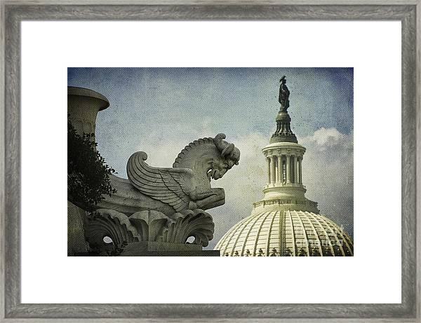 Rayburn Gargoyle Framed Print