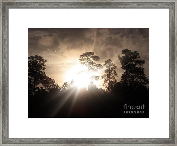 Rays Of Hope Framed Print