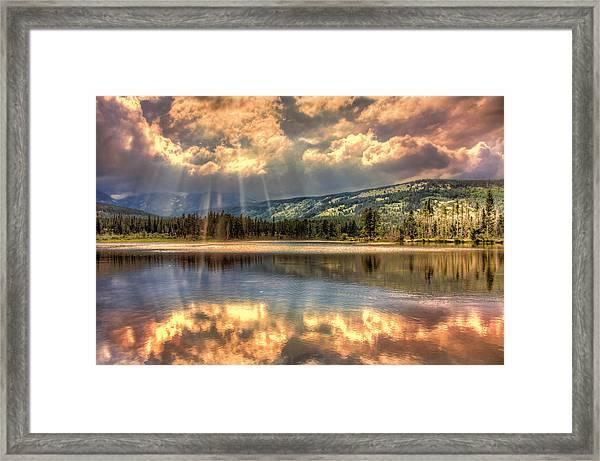 Rays Of Sunlight Framed Print