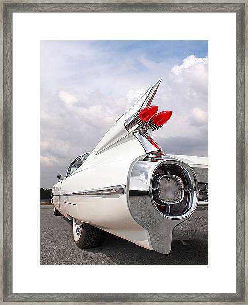 Reach For The Skies - 1959 Cadillac Tail Fins Framed Print