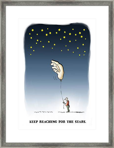 Reach For The Stars Framed Print