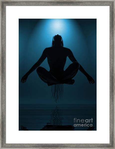 Reaching Nirvana.. Framed Print