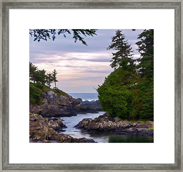 Reaching Out To The Ocean Framed Print
