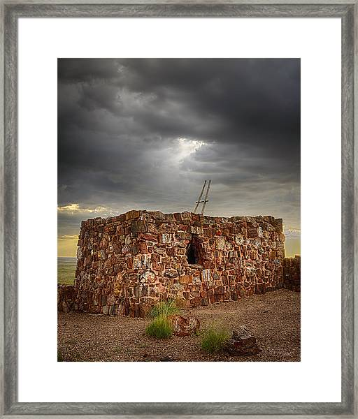 Reaching To The Light Framed Print by Medicine Tree Studios