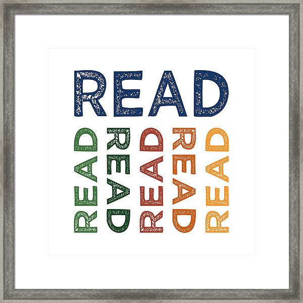 Read Cute Colorful Framed Print