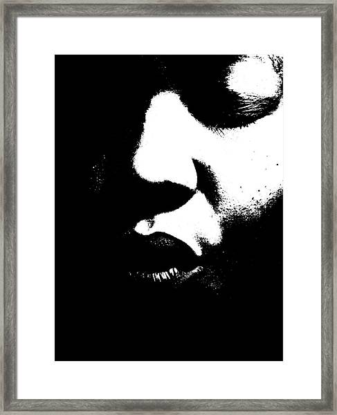 Read My Lips Framed Print
