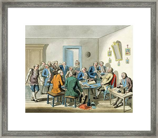 Reading A Will Framed Print