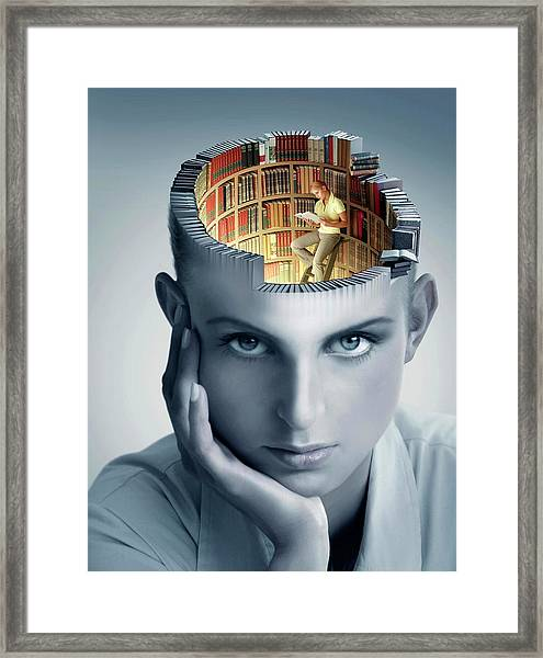 Reading And Memory Framed Print