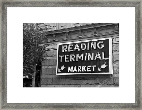 Reading Terminal Market Framed Print