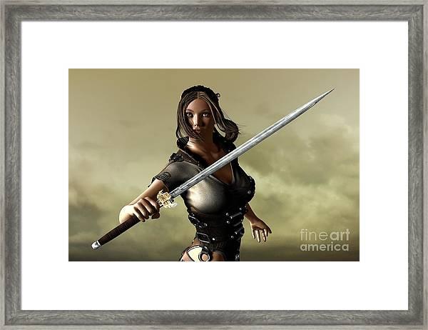Ready For Battle Framed Print by Sandra Bauser Digital Art