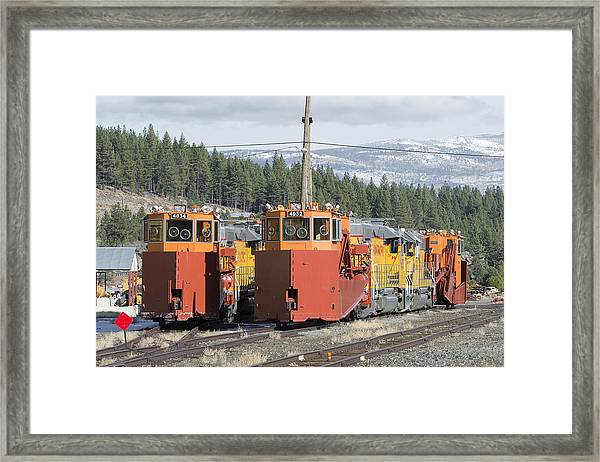Ready For More Snow At Donner Pass Framed Print
