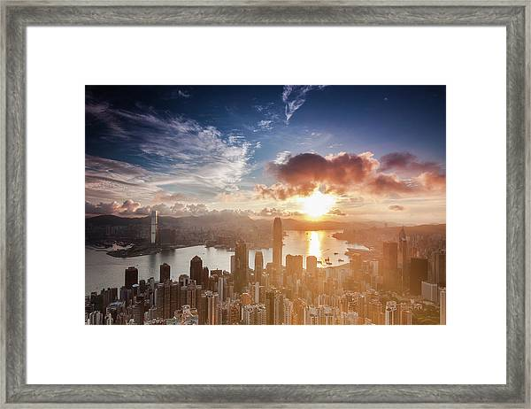 Ready For Summer In Hong Kong Framed Print