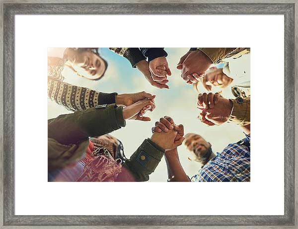 Real Friends Are There When You Need Them Framed Print by Cecilie_Arcurs