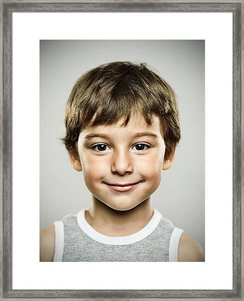 Real Happy Kid Framed Print by SensorSpot