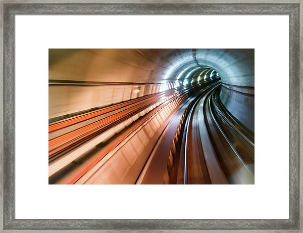 Real Tunnel With High Speed Framed Print by Fredfroese