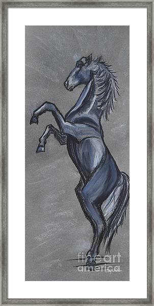 Rearing Horse Framed Print