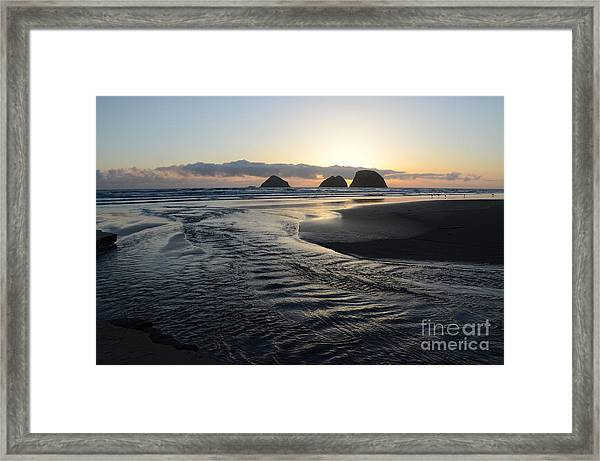 Receding Tide Framed Print