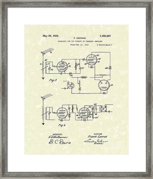 Receiver 1923 Patent Art Framed Print