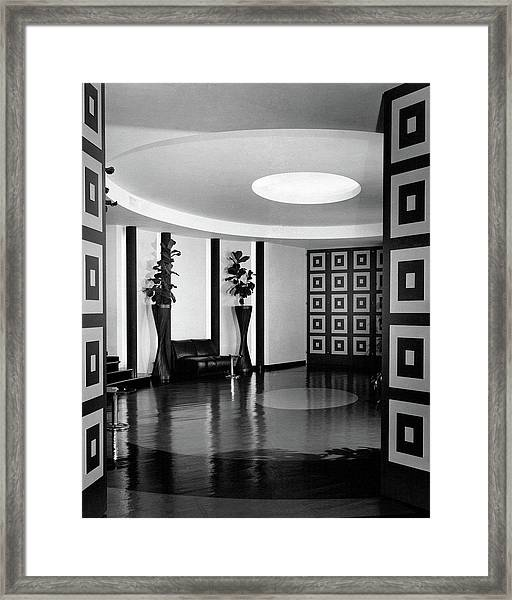 Reception Hall At The Terrace Club Framed Print
