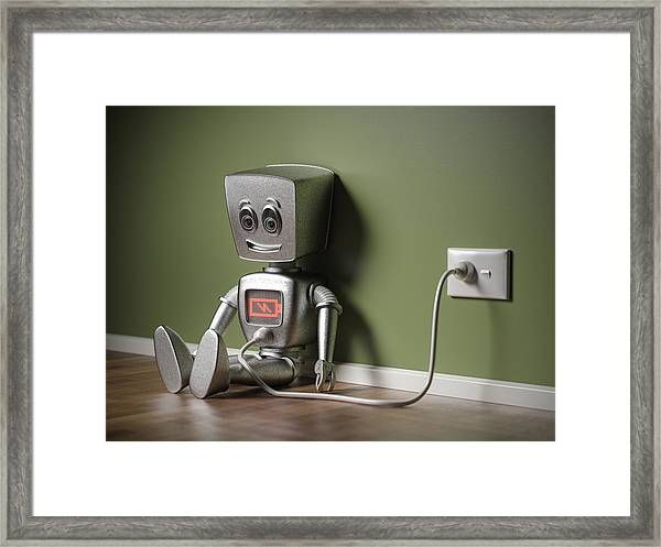 Recharging Framed Print by Mevans