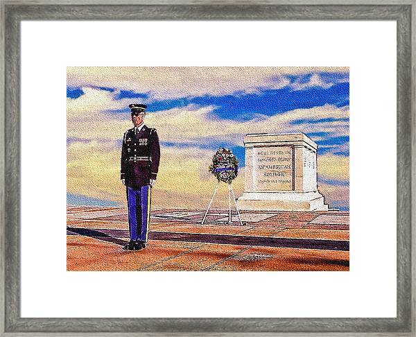 Recitation Of The Requirements Of Honor Guards Framed Print