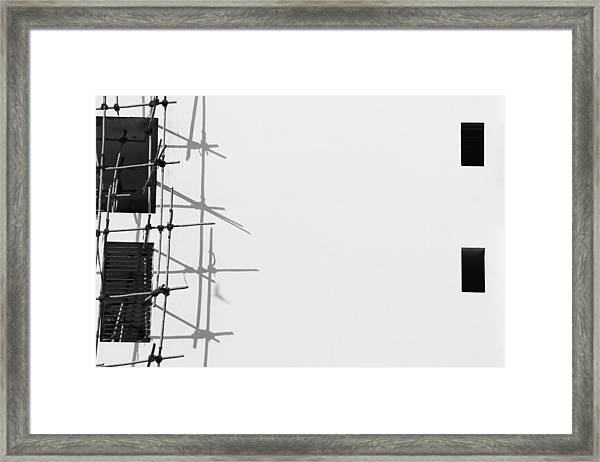Rectangles And Shadows Framed Print