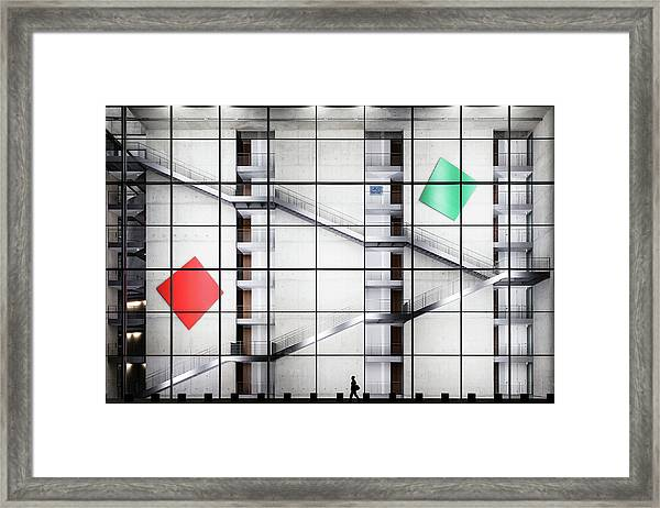 Red > Green Framed Print by Herv? Loire