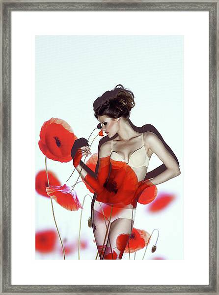 Red Framed Print by