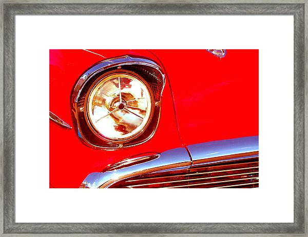 Red 57 Chevy Close Up Framed Print