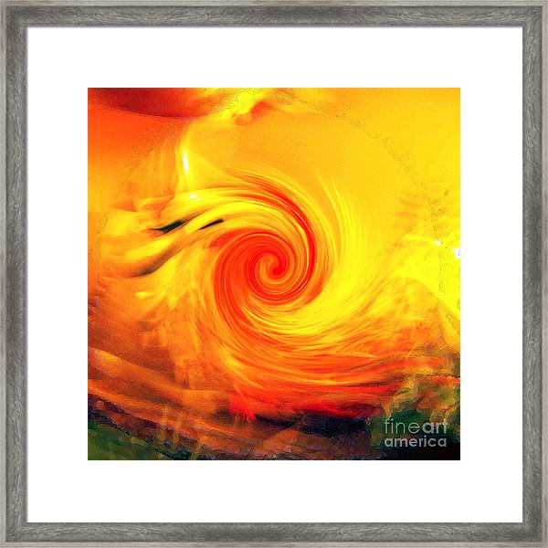 Red Abyss Framed Print