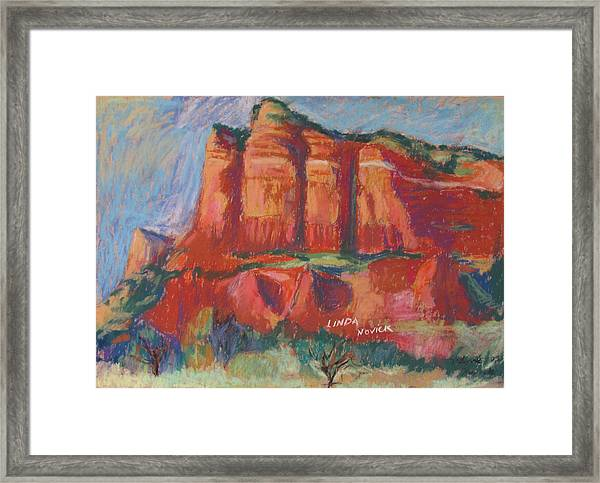 Red And Purple Framed Print