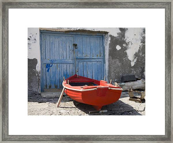 Red And The Blue Framed Print