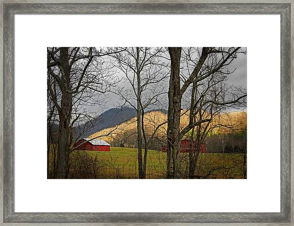 Red And White Framed Print