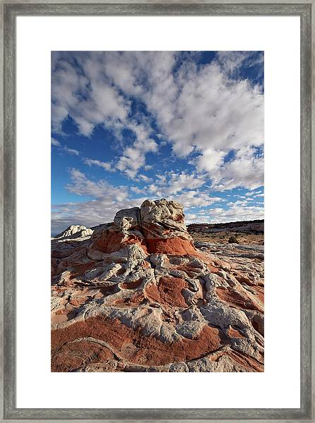 Red And White Sandstone Formations Framed Print by James Hager / Robertharding