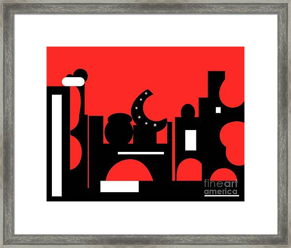 Red Bazaar Framed Print