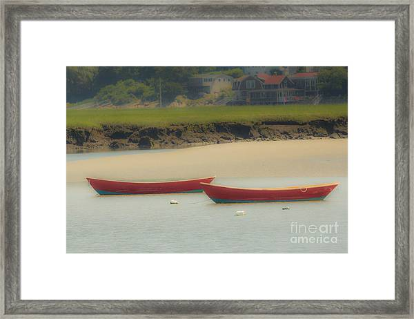 Red Boats Framed Print