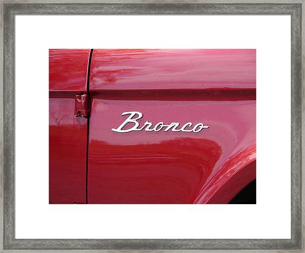 Red Bronco I Framed Print