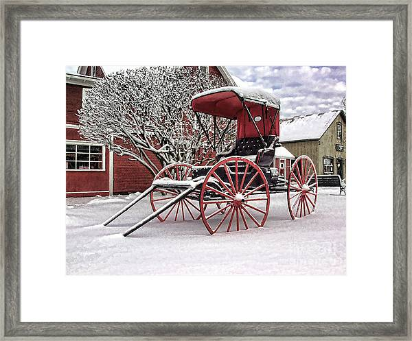 Red Buggy At Olmsted Falls - 1 Framed Print