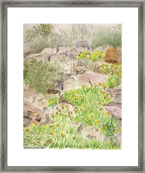 Red Butte Gardens Framed Print