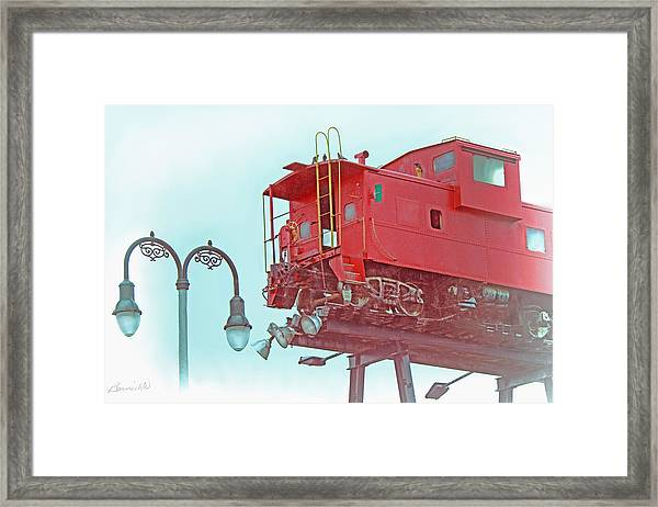 Red Caboose In The Sky2 Framed Print