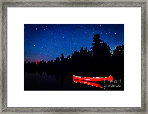 Red Canoe I Framed Print