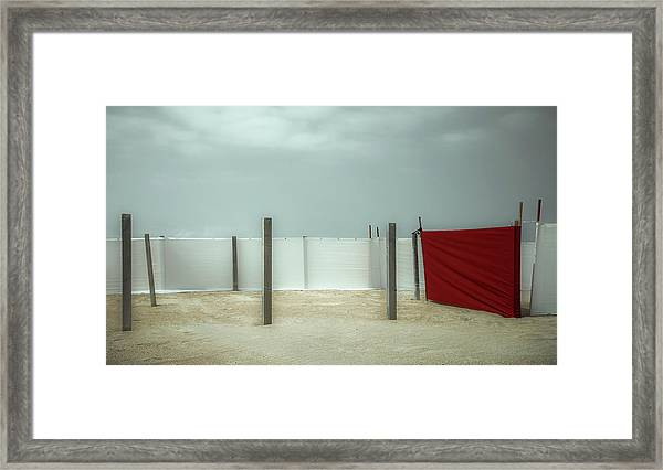 Red Canvas Framed Print