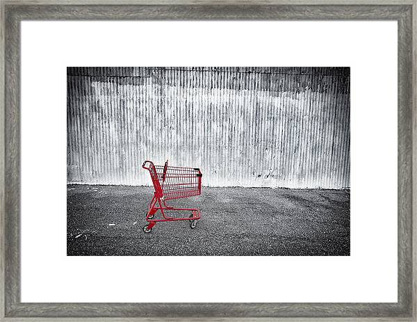 Red Cart Framed Print