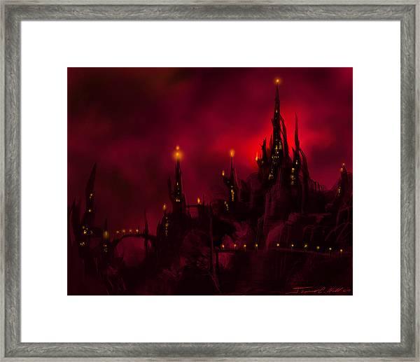 Red Castle Framed Print