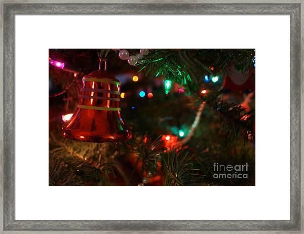 Red Christmas Bell Framed Print