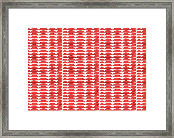 Red Cut Outs- Abstract Pattern Art Framed Print