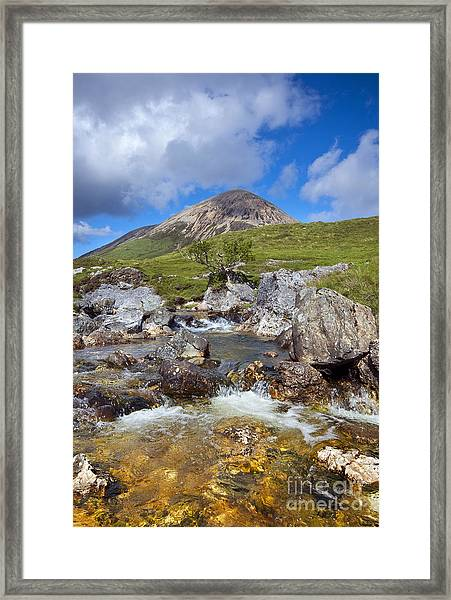 Red Cuillin Framed Print