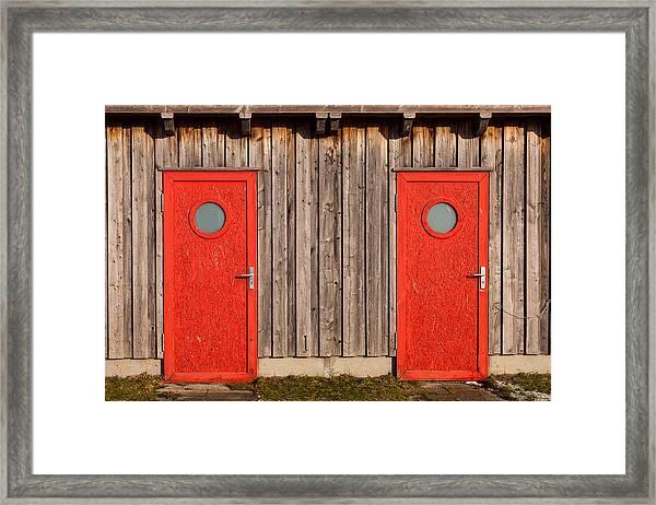 Red Door Or Red Door Framed Print