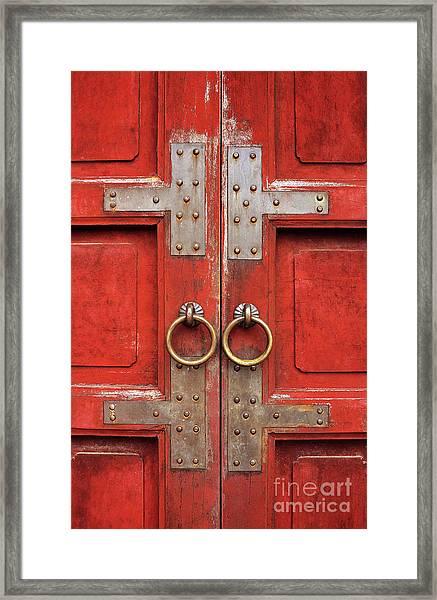 Red Doors 01 Framed Print
