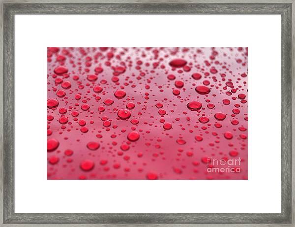 Red Droplets Framed Print